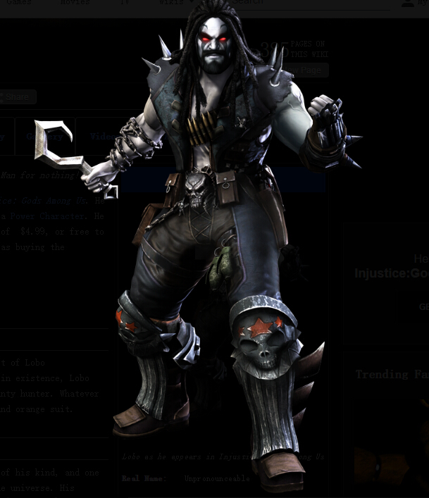 Lobo Cosplay Costume from Injustice