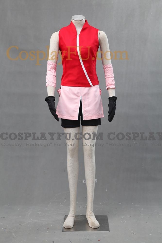 Sakura Cosplay Costume (C10) from Naruto