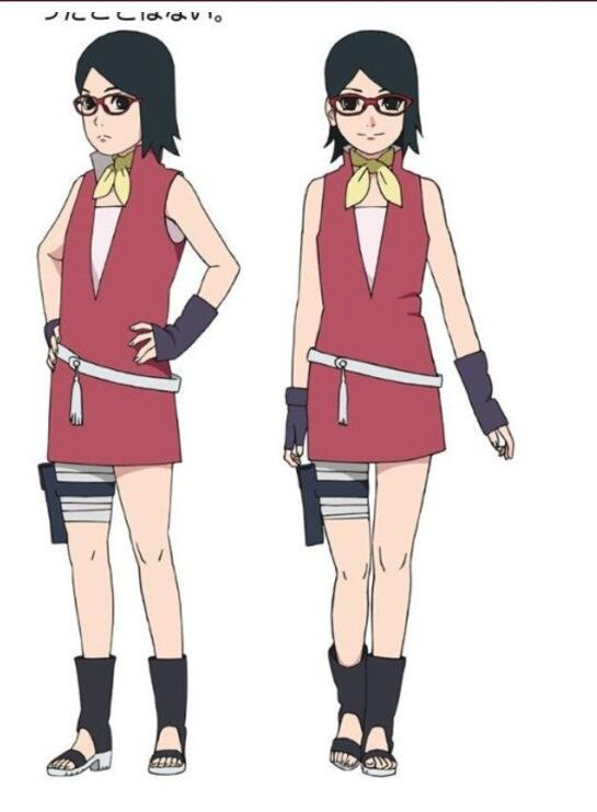 Sarada Uchiha Cosplay Costume from Boruto: Naruto Next Generations