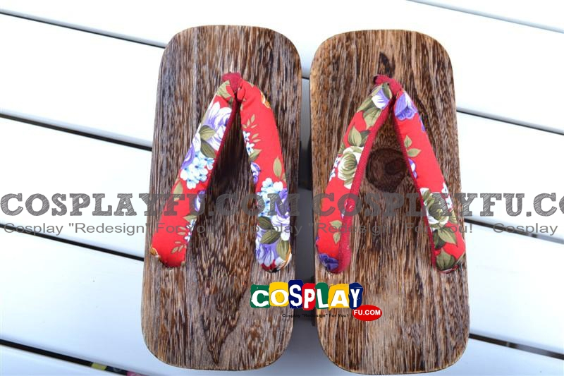 Red Flower Clogs from Common Cosplay Costume