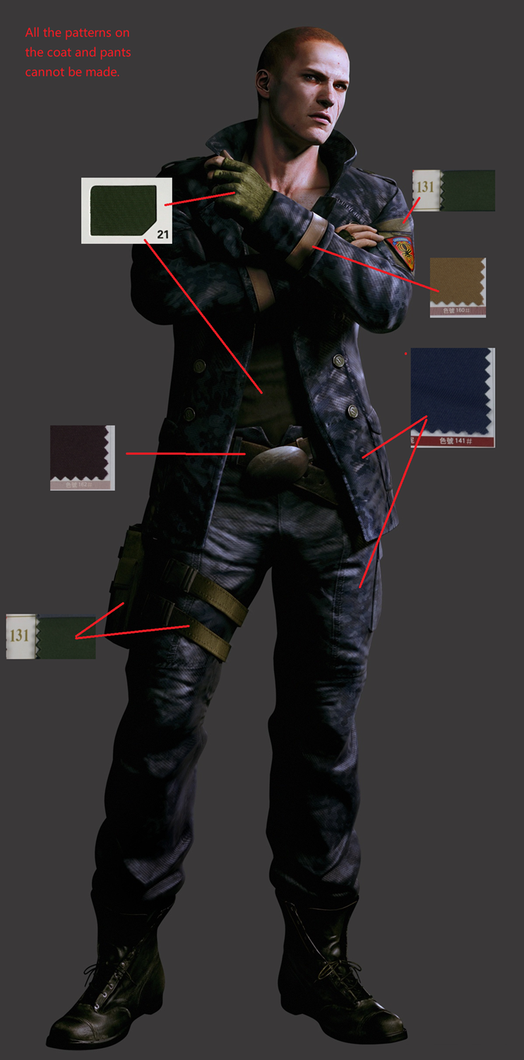 Jake Cosplay Costume from Resident Evil