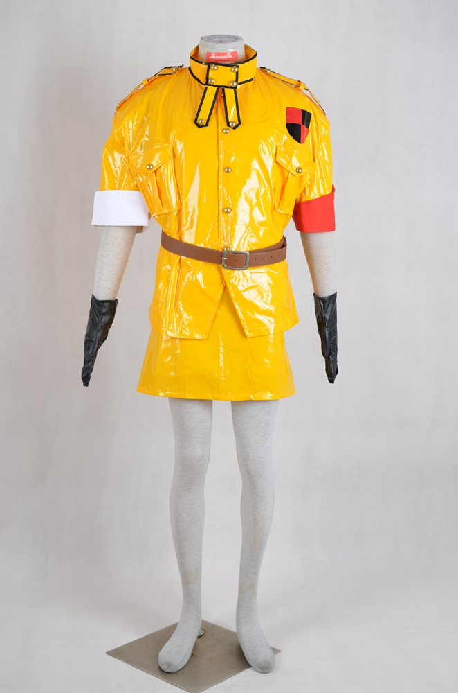 Seras Cosplay Costume (Yellow Leather) from Hellsing