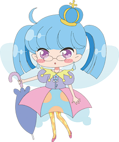 Amemi Cosplay Costume from Rilu Rilu Fairilu