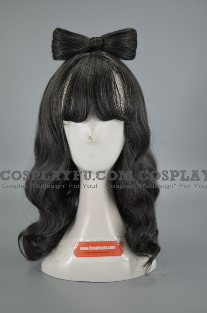 Grey Wig (Medium, Curly, Genshi)