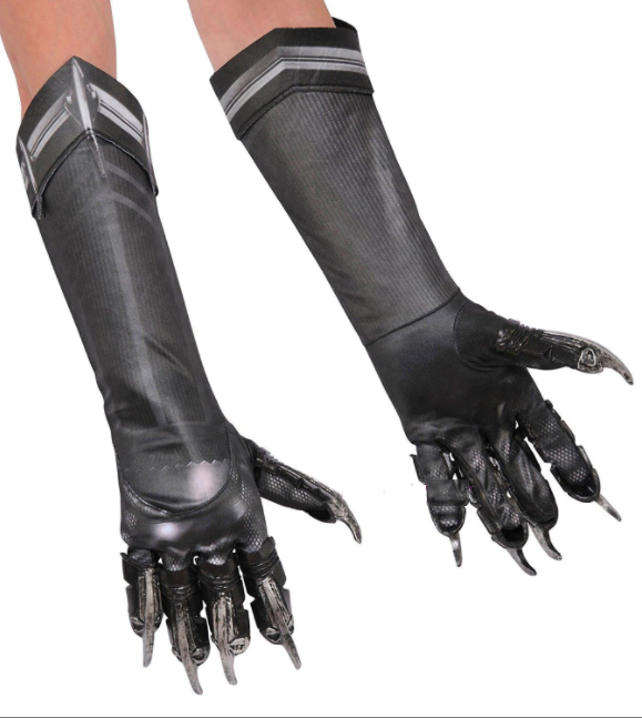 Black Panther Cosplay Costume Gloves from Black Panther 2018