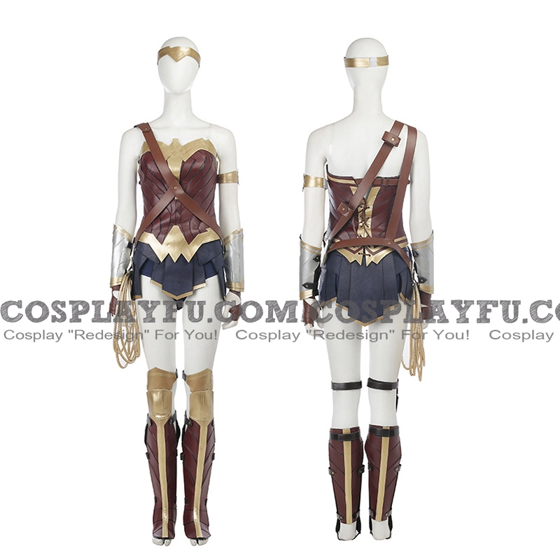Wonder Woman Cosplay Costume from Justice League (film)