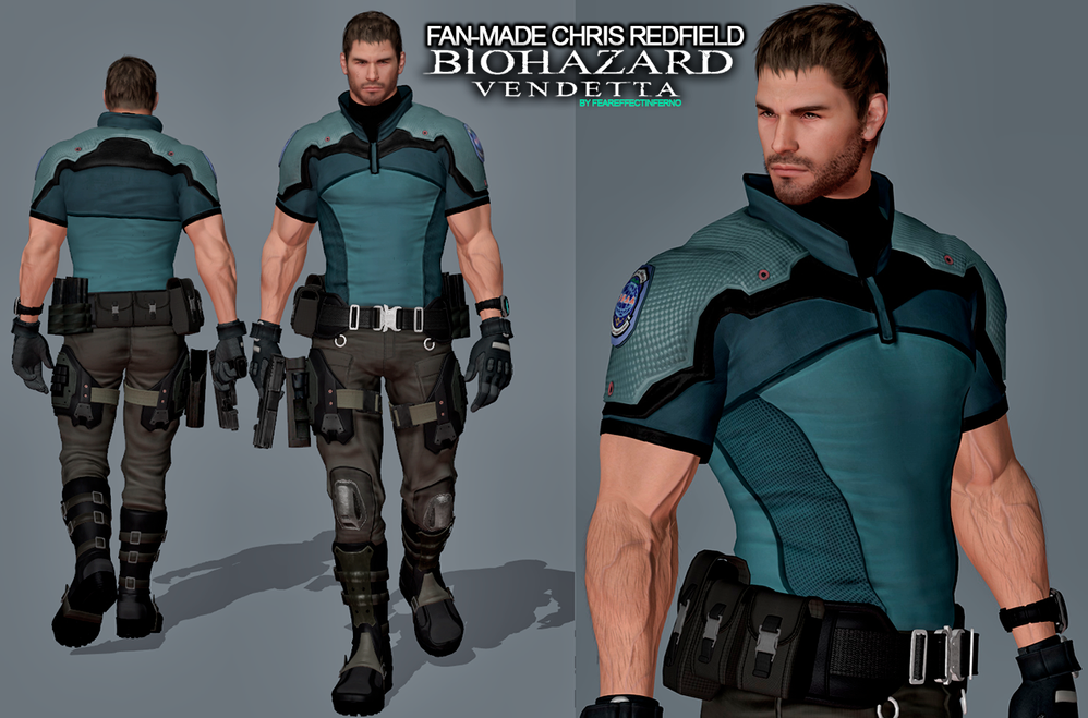Chris Redfield Cosplay Costume (2nd) from Resident Evil