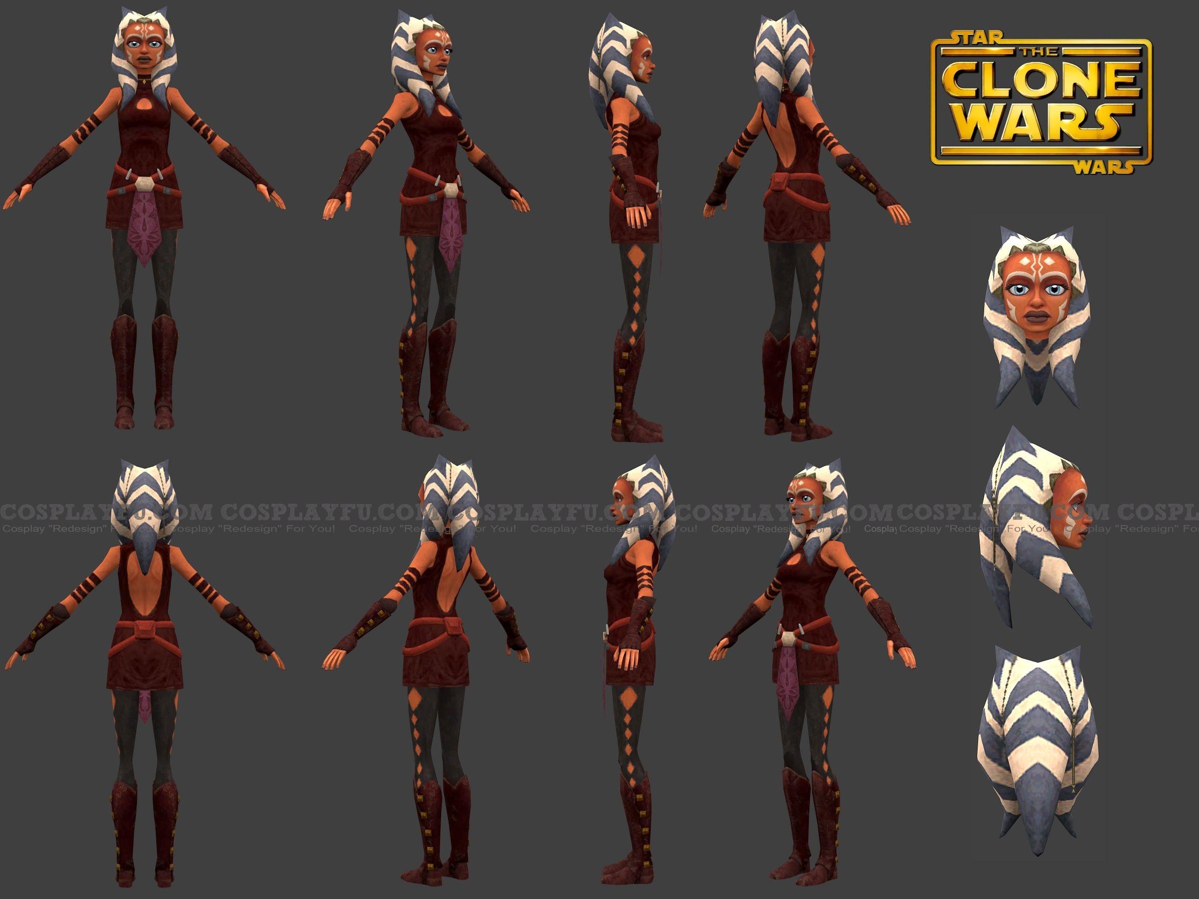 Звёздные войны Асока Тано Костюм (Clone Wars)