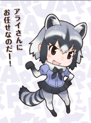 Common Raccoon Wig from Kemono Friends