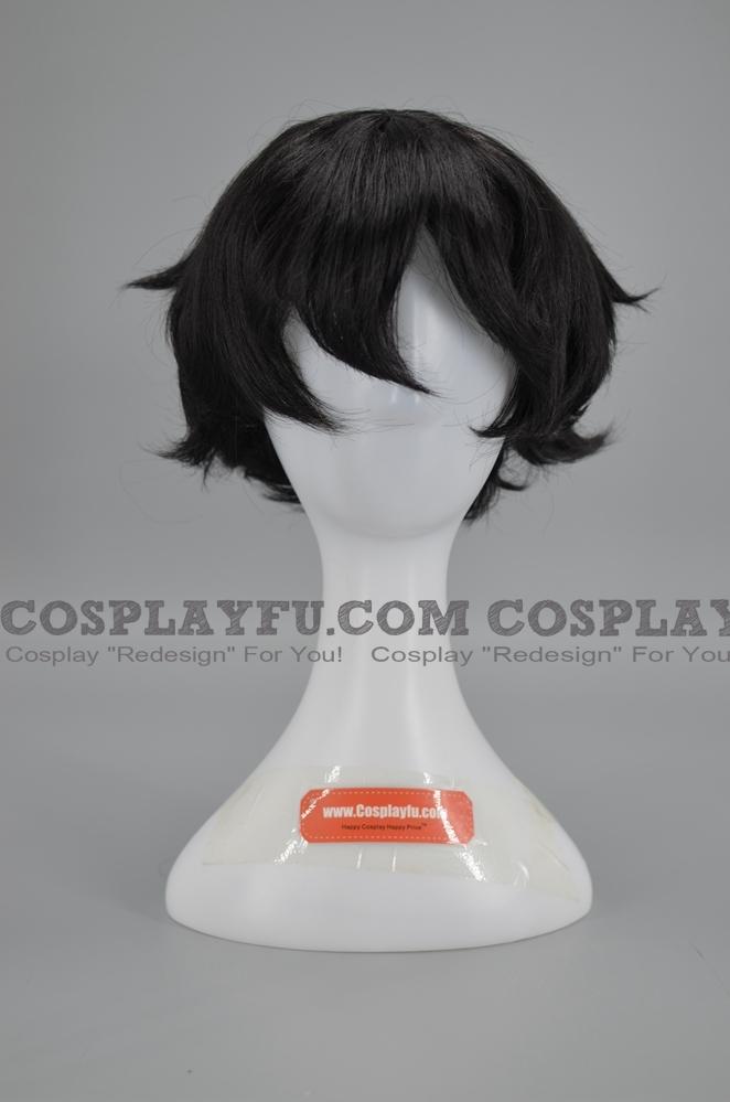 30 cm Short Black Wig (5567)