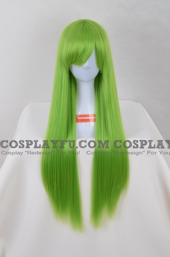 Long Straight Green Wig (6784)