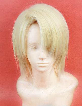 Short Straight Light Blonde Wig (7034)