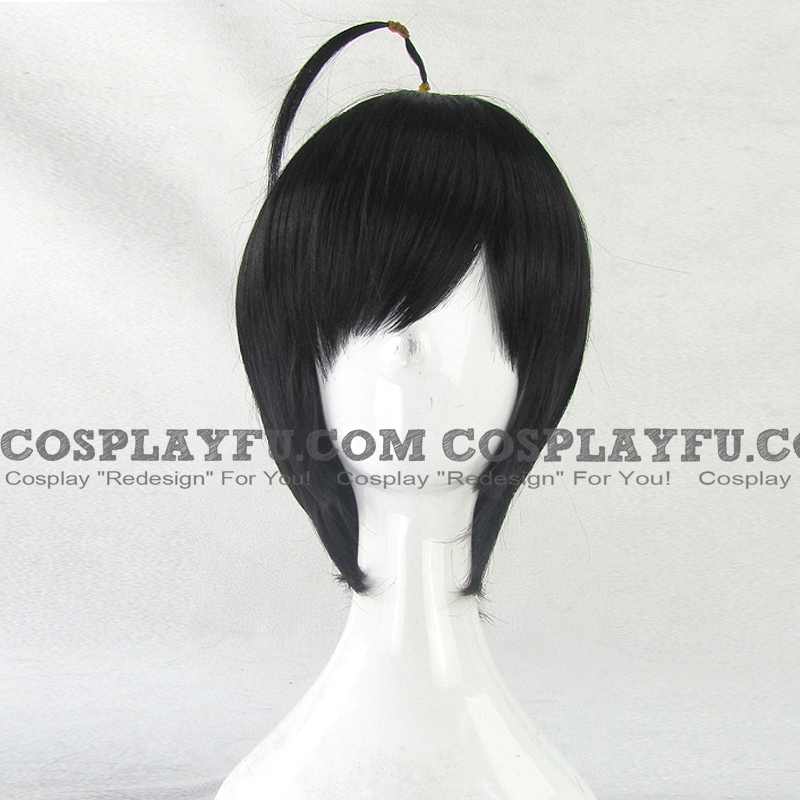 Short Straight Black Wig (8466)