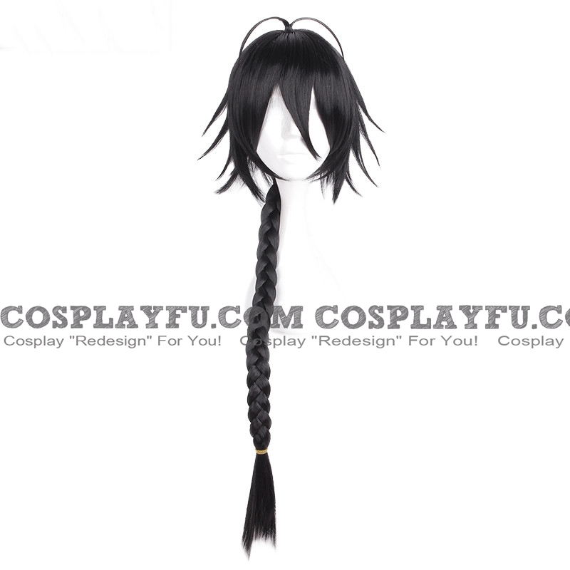 Long Straight Braid Black Wig (8553)