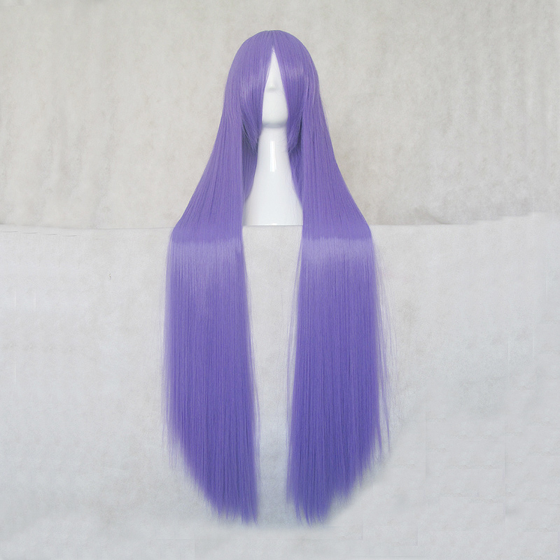 Touhou Project Patchouli Knowledge 100cm Long Purple Straight Cosplay Wig