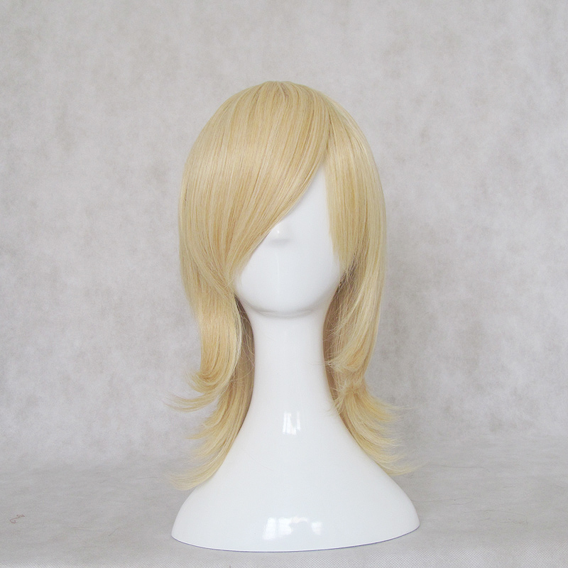 Medium Straight Blonde Wig (8440)