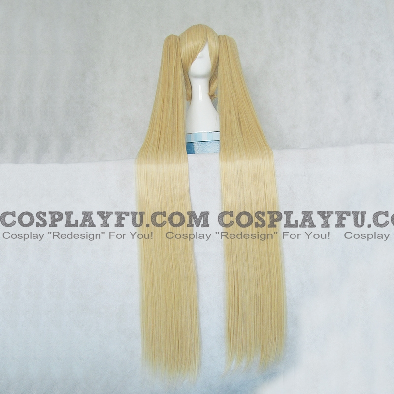 120 cm Long Twin Pony Tails Blonde Wig (8934)