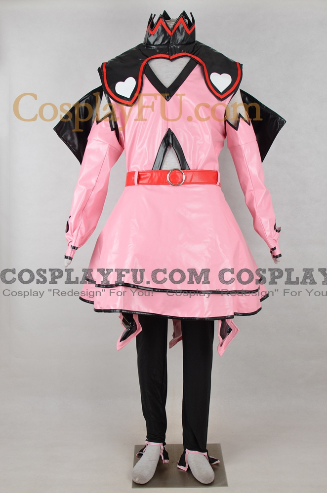 Miku Hatsune Cosplay Costume (Heart Hunter, Artificial Leather) from Vocaloid