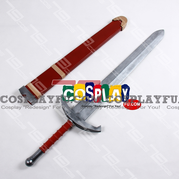 Prince Anlace Cosplay Costume Sword from Dragon Quest Swords: The Masked Queen and The Tower Of Mirrors (2703)