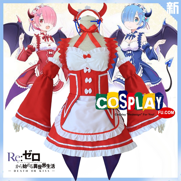 Rem Cosplay Costume from Re:Zero (4331)