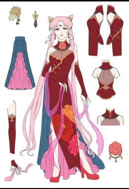 Chibi Moon (Wicked Lady) Cosplay Costume from Sailor Moon