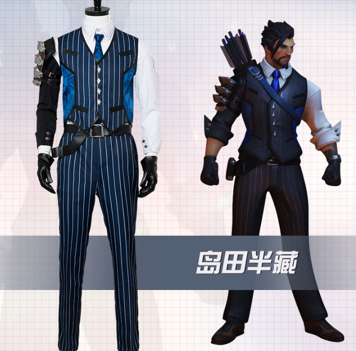 Hanzo Shimada Cosplay Costume from Overwatch (6410)