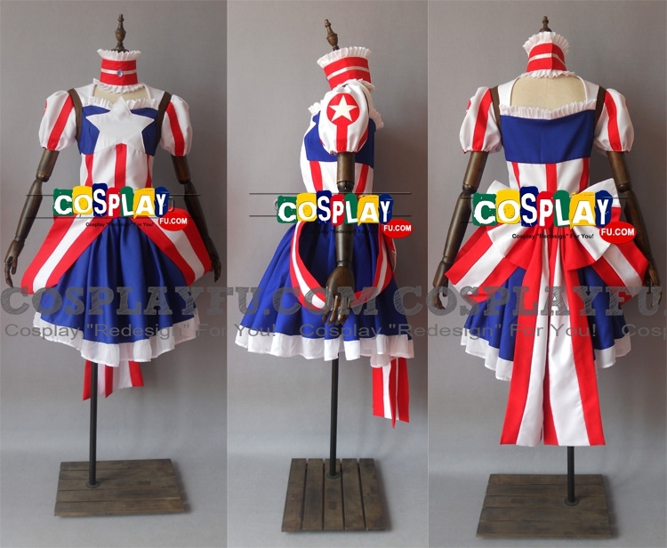 Captain America Cosplay Costume from Captain America (6215)