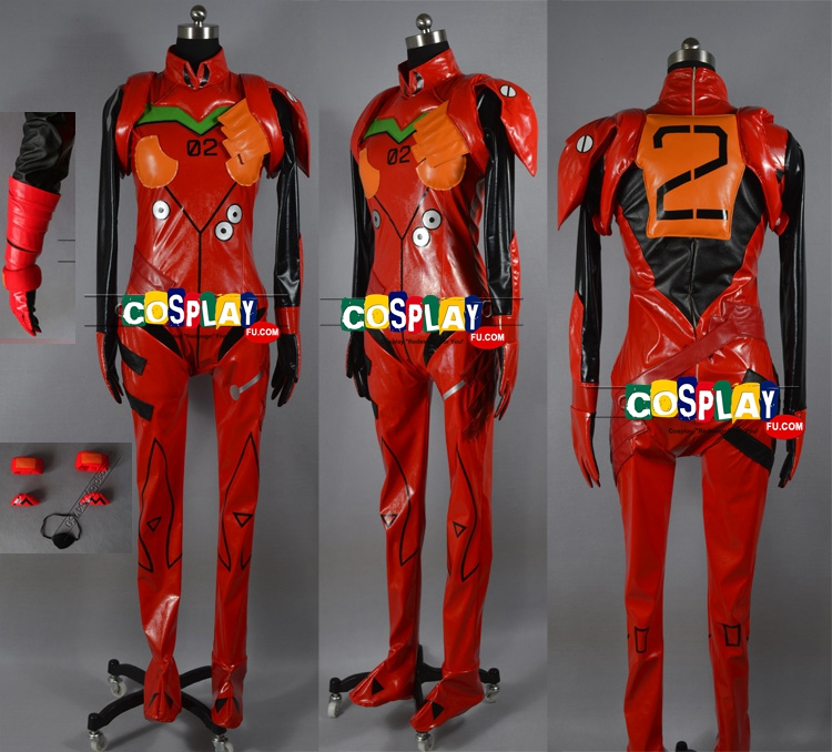 Asuka Langley Soryu Cosplay Costume from Neon Genesis Evangelion (6605)