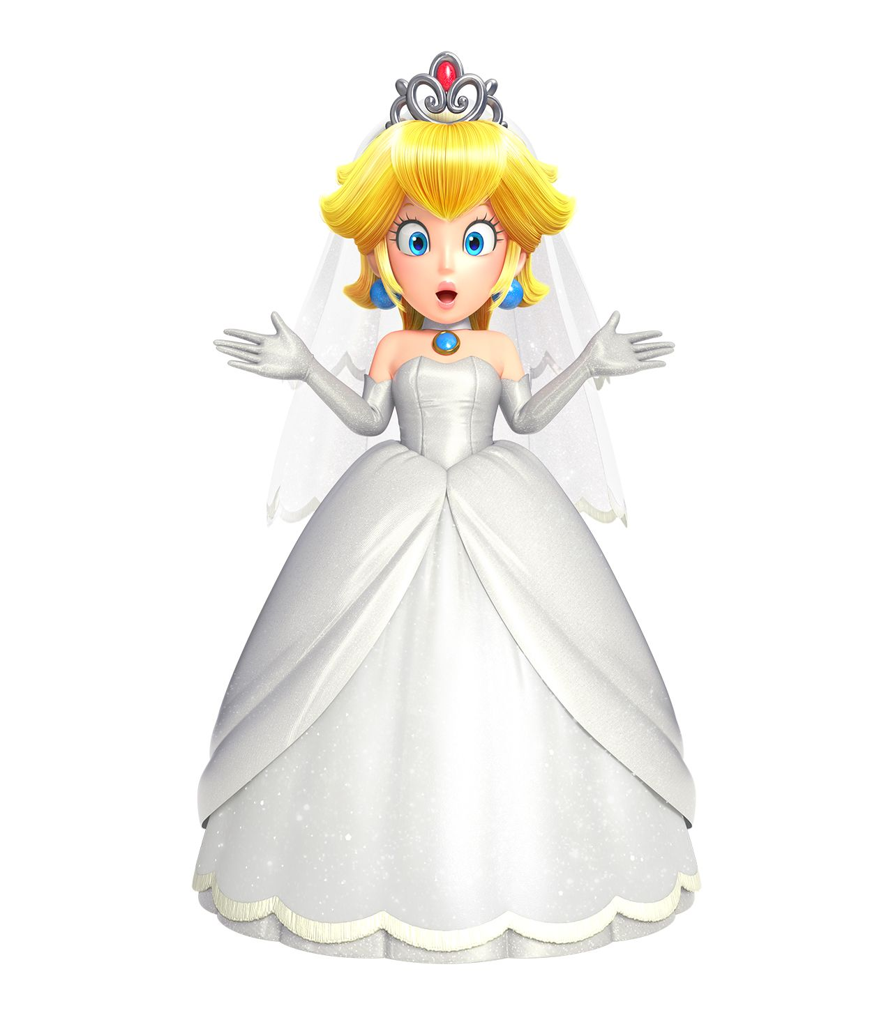 Princess Peach Cosplay Costume (Wedding) from Super Mario