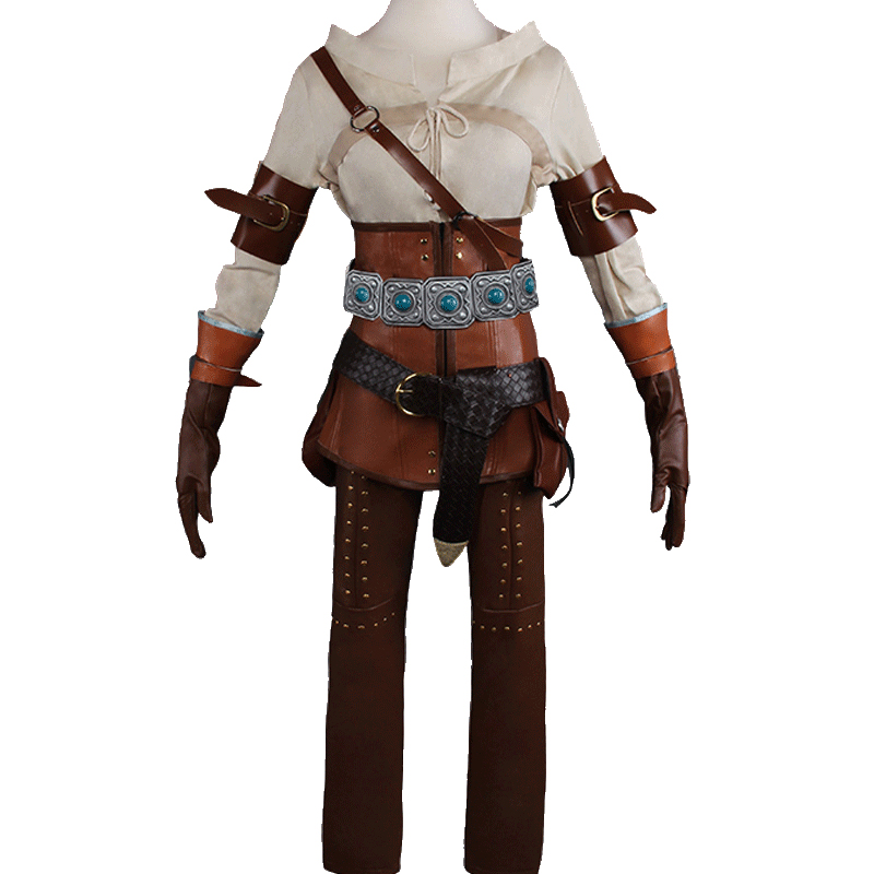 Ciri Cosplay Costume from Witcher 3 The Wild Hunt (6418)