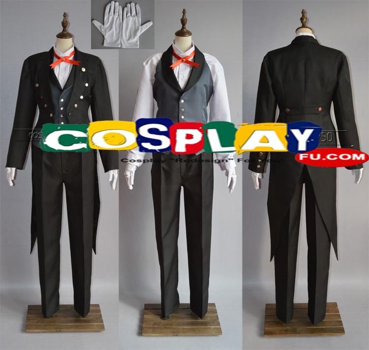Sebastian Cosplay Costume from Kuroshitsuji (6019)