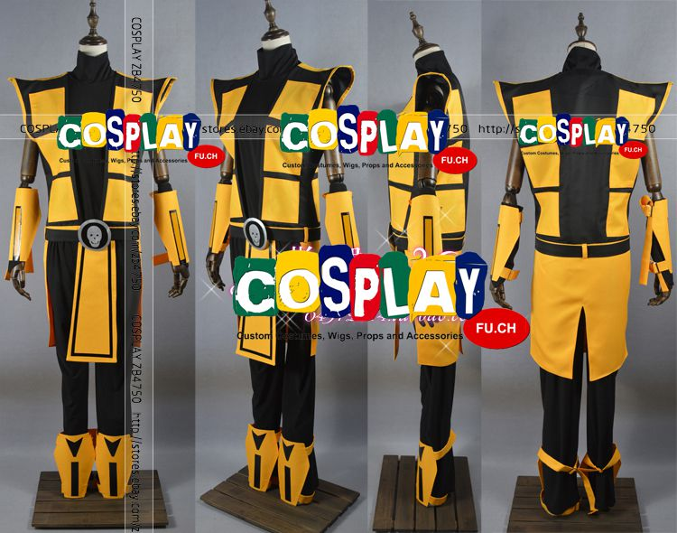 Scorpion Cosplay Costume from Mortal Kombat (5930)