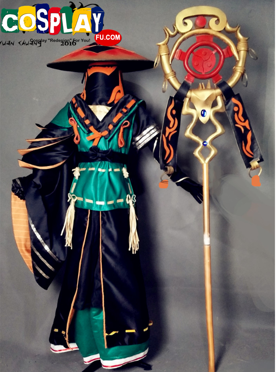 Aobozu (Previously Blue Monk) Cosplay Costume Props from Onmyoji