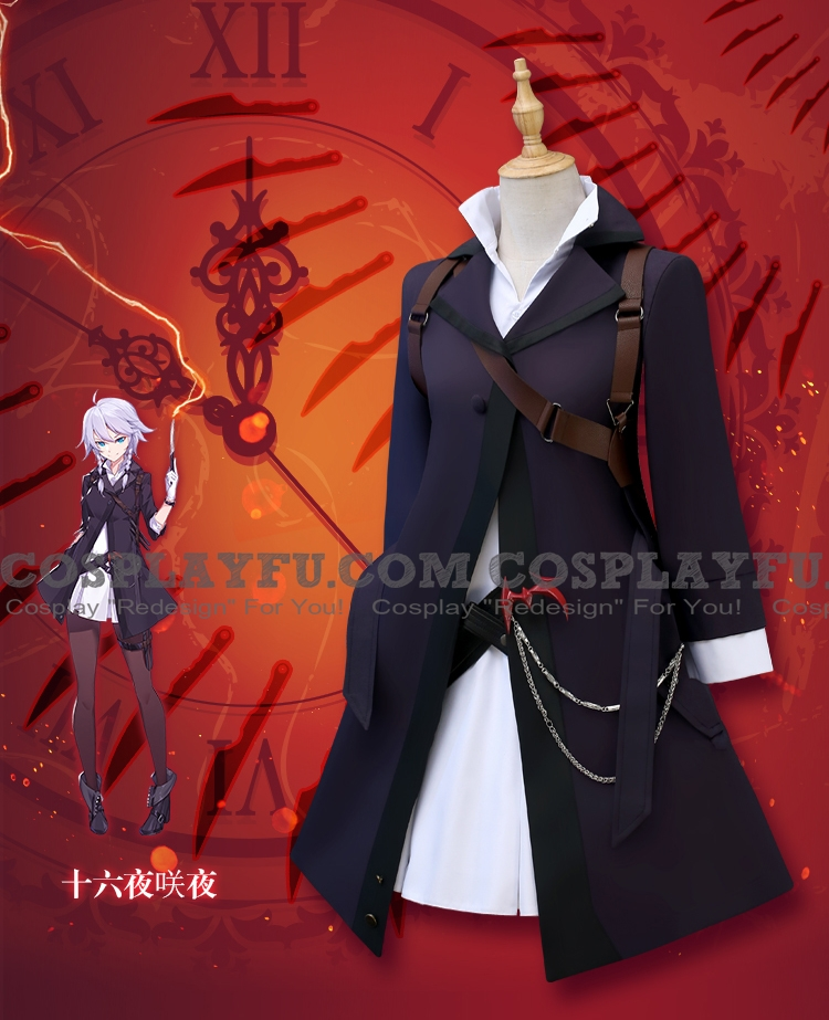 Sakuya Cosplay Costume (2nd) from Touhou Project