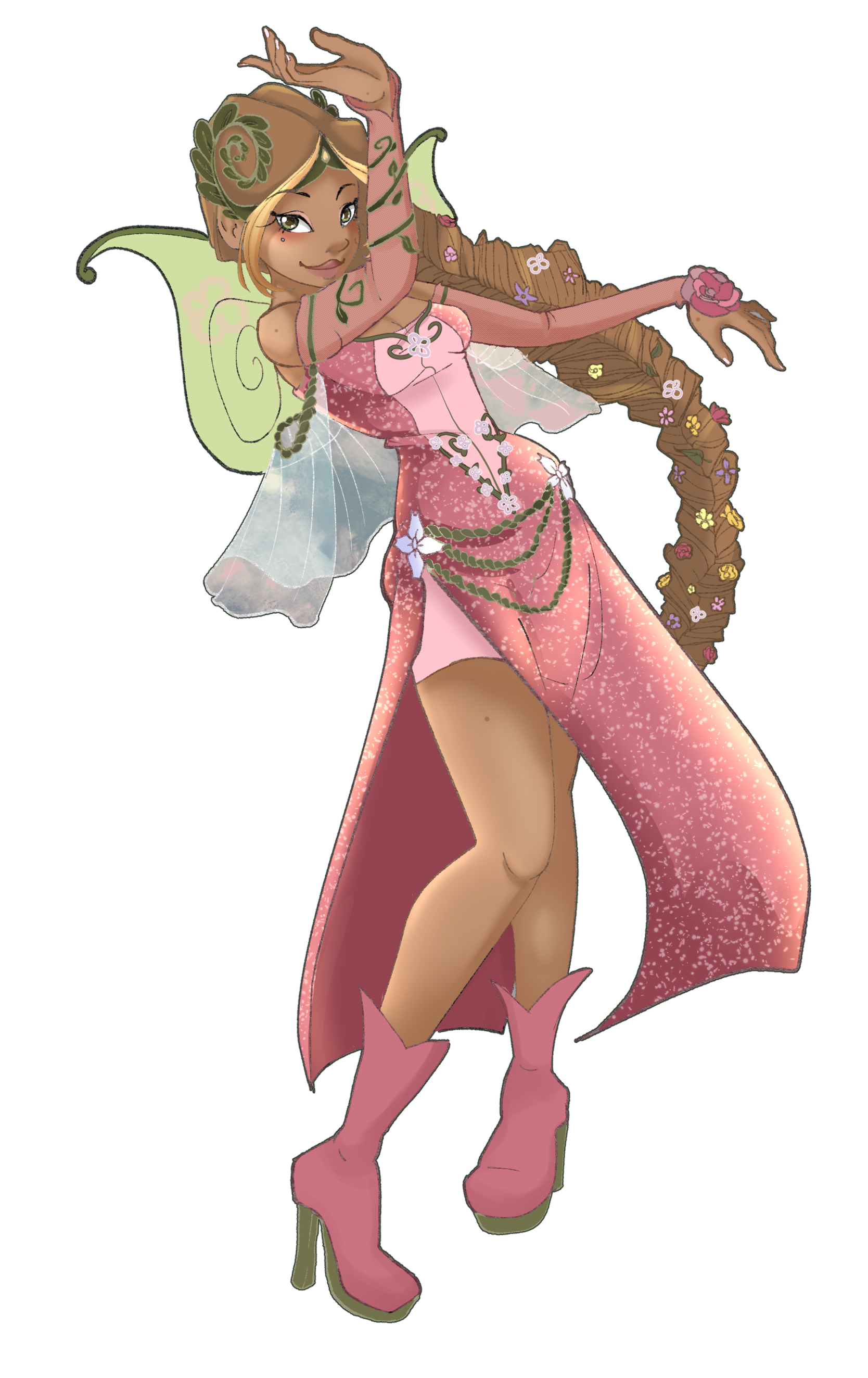 Flora Cosplay Costume (1523) from Winx Club