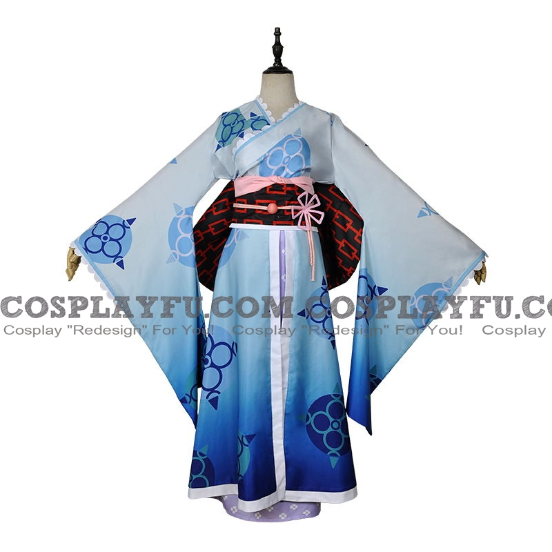 Rem Cosplay Costume (Blue Kimono) from Re:Zero