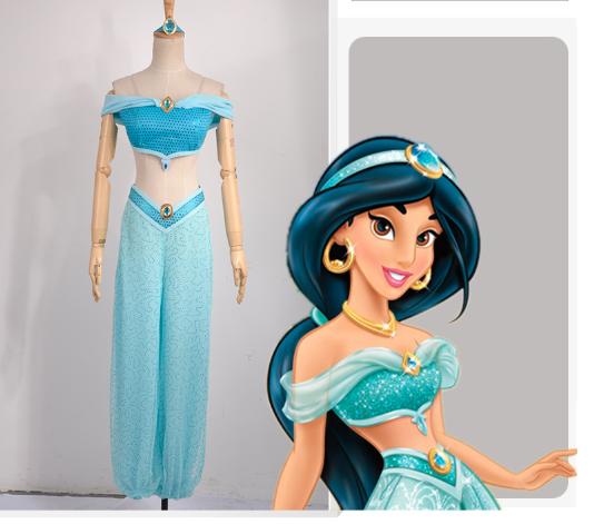 Princess Jasmine Cosplay Costume from Aladdin