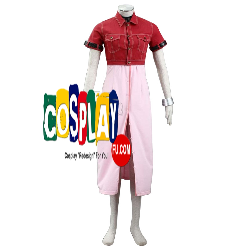 Aerith Cosplay Costume from Final Fantasy VII