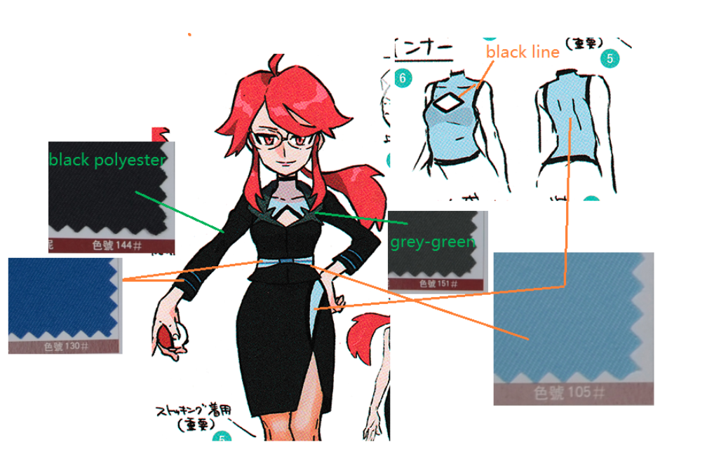 Lorelei Cosplay Costume from Pokemon