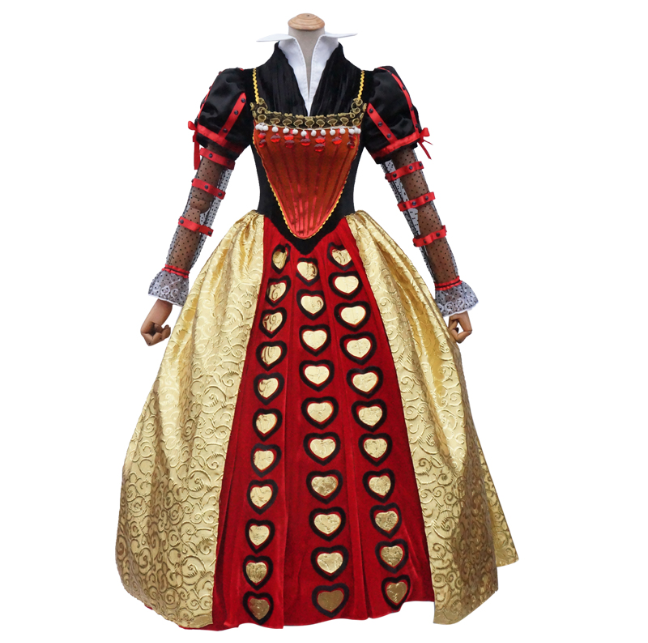 Red Queen Cosplay Costume from Alice in Wonderland 2010 film