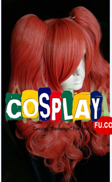 Long Curly Twin Pony Tails Red Wig (8004)