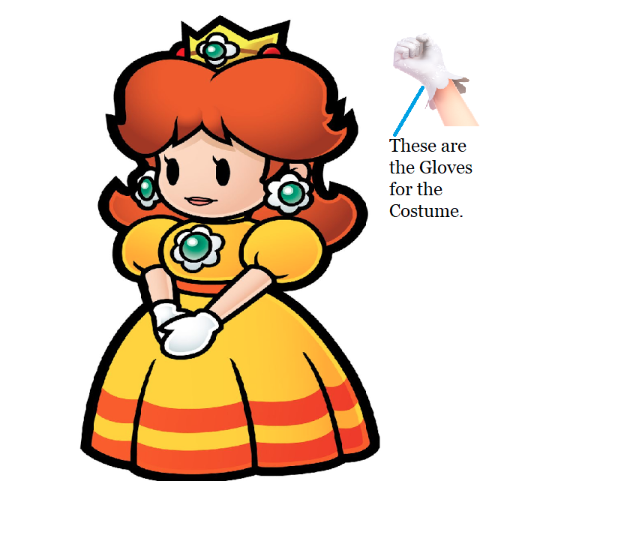 Princess Daisy Cosplay Costume (2nd) from Super Mario