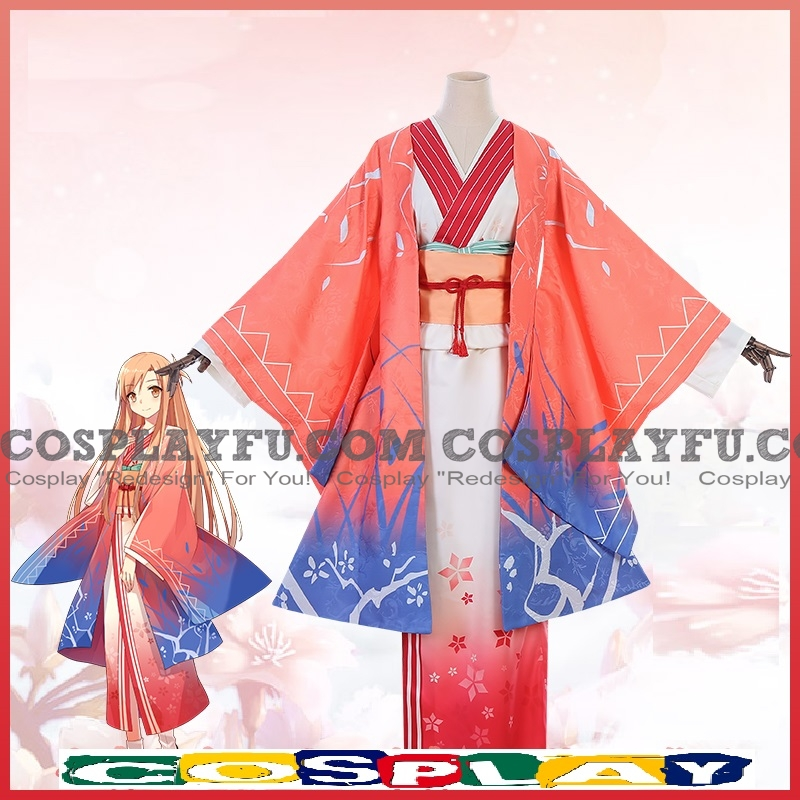 Asuna Cosplay Costume (New Year, Kimono) from Sword Art Online