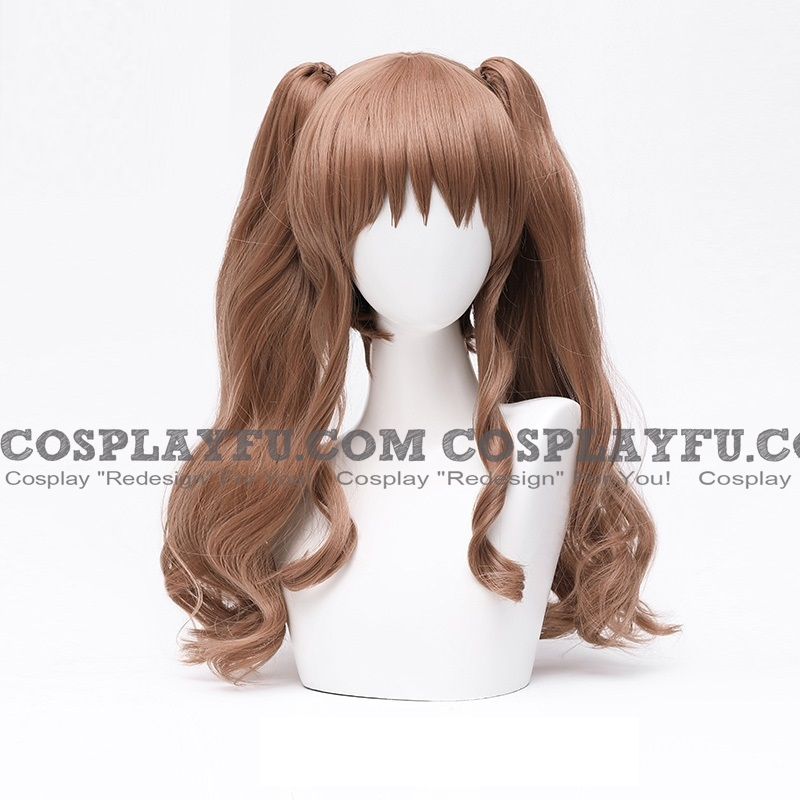 Long Twin Pony Tails Brown Wig (4428)