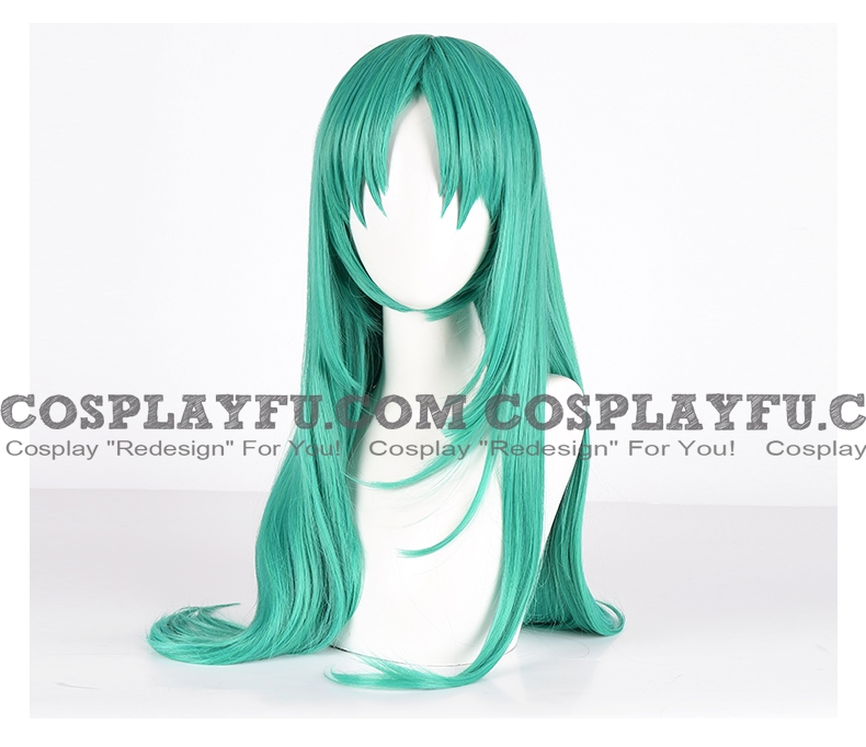 Long Straight Green Wig (4428)