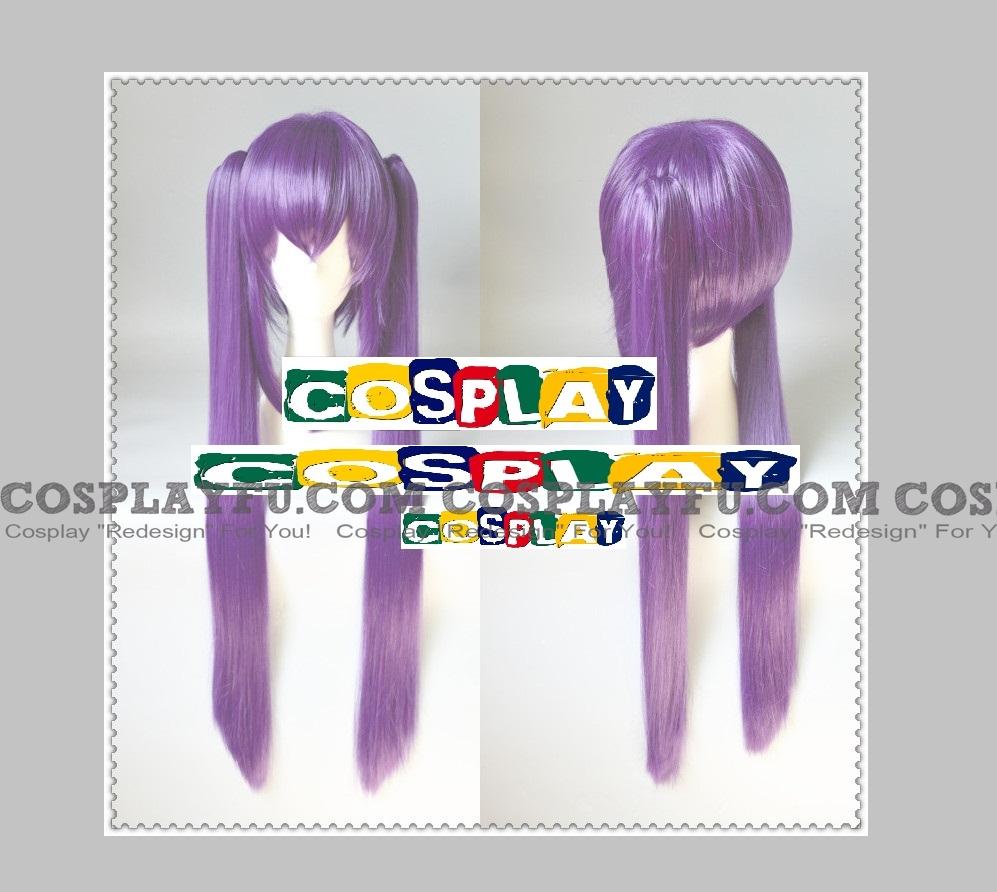 Purple Straight Long Pony Tails Wig