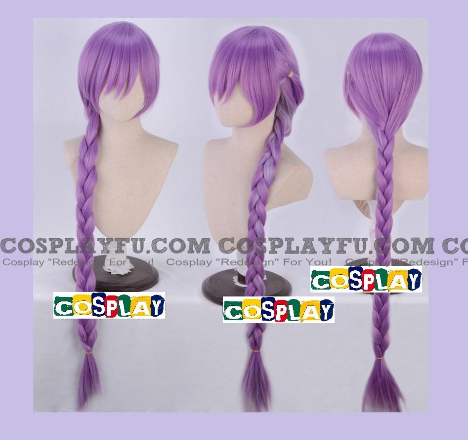 Long Braids Purple Wig