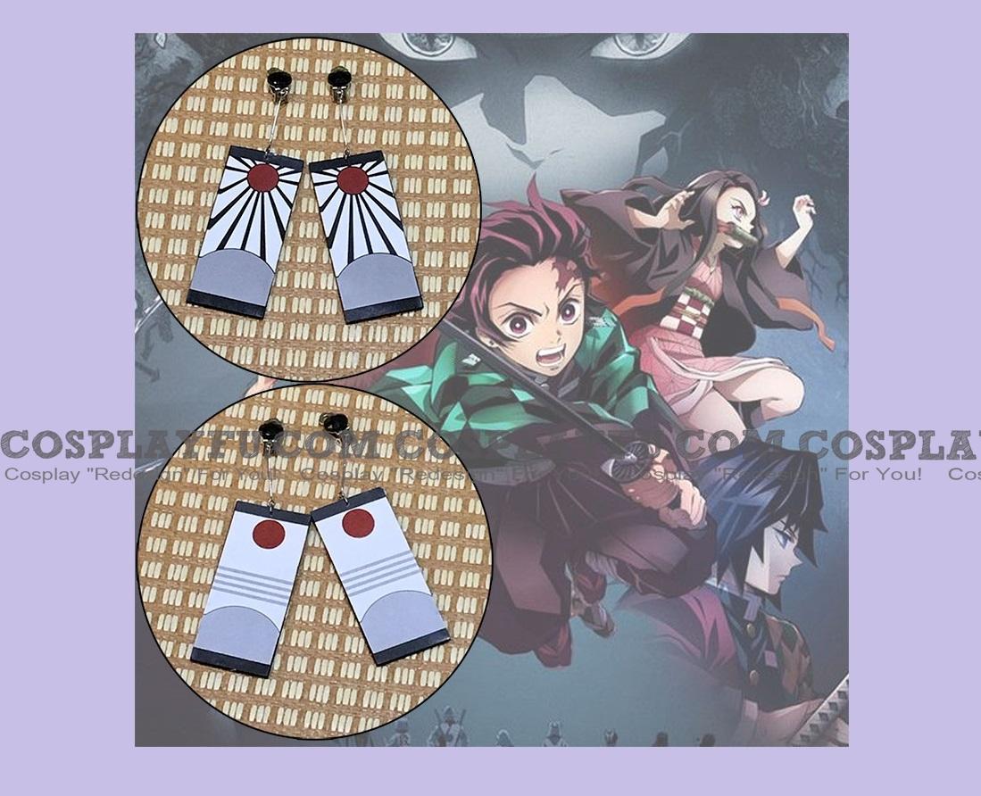 Kamado Earrings from Demon Slayer: Kimetsu no Yaiba