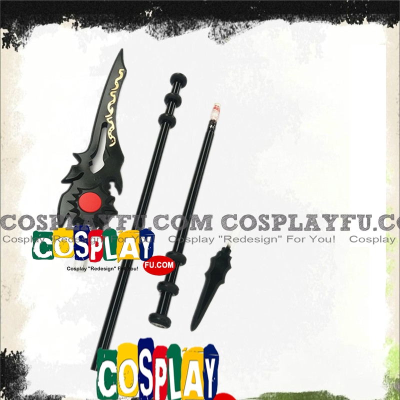Lord Grim (Jun Mo Xiao) Cosplay Costume Spear from The King's Avatar