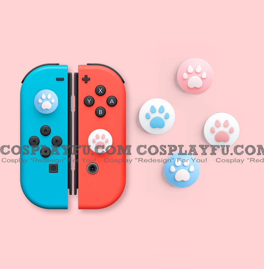 Nintendo Switch Paw Thumb Grips Caps Cover (Version C, For Switch Switch-Lite Joycon, Pack of 4)